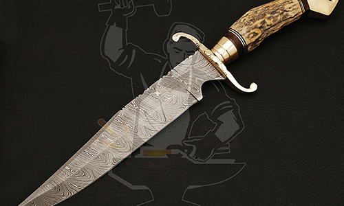 Damascus Bowie knives